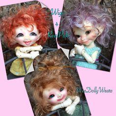 Handmade wig made to fit Fairyland bjd - RealPuki