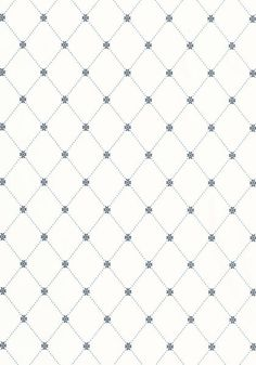BLUE LATTICE THIBAUT WALLCOVERING