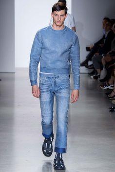 Calvin Klein Collection Spring 2016 Menswear - Collection thefashionjumper.com #grey #suit #2016 #spring #denim