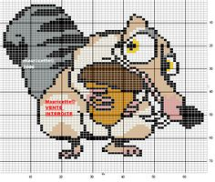 Ice Age hama perler beads pattern by Mauricette