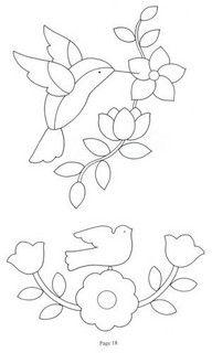 hummingbird line drawing #template #flower #bird