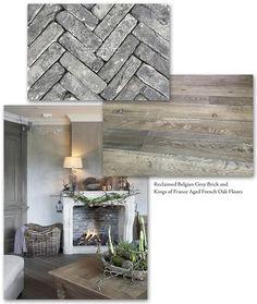 Authentic and beautiful, the grey blues of our reclaimed Belgian grey bricks with our Kings of France 18th Century Wide Plank Oak Flooring make for a warm and spectacular home.