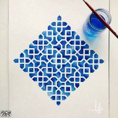 Islamic Art Pattern, Arabic Pattern, Geometry Pattern, Pattern Art, Pattern Painting, Pattern Ideas, Geometric Art, Geometric Designs, Geometric Pattern Design