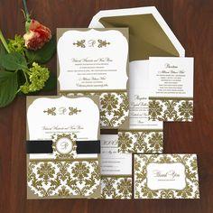 Classic Wedding Invitations  The American Wedding http://www.theamericanwedding.com/harlow-wedding-invitations.html