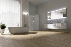 Face it: an all-white color scheme can make any bathroom a serene and settling retreat. That's why Luxury Bathrooms' editors have selected some bathroom designs that certainly will make you fell more comfortable. Be amazed by these white bathroom design ideas! ➤To see more Luxury Bathroom ideas visit us at www.luxurybathrooms.eu #luxurybathrooms #homedecorideas #bathroomideas @BathroomsLuxury