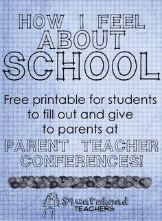 Parent Teacher Conferences -student forms- sticker