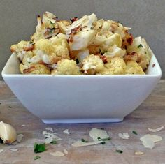 Roasted Parmesan Garlic Cauliflower - can make in toaster oven