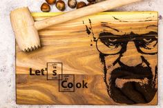 Breaking bad hardwood cutting board Lets Cook by Smileboards by EcoTech Inform