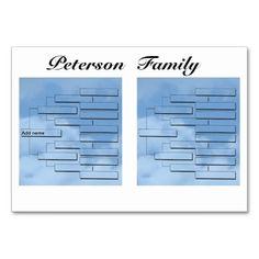 Family Reunion Dinner Table Card