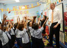 Desegregating NYC schools New York Mayor Bill de Blasio visits a second grade Spanish clas