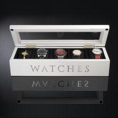UniGift Wooden Watch Storage Box - White