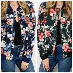 Womens Fashion Floral Retro Moto Bomber Jacket | Clothing, Shoes & Accessories, Women's Clothing, Coats & Jackets | eBay!