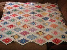 Antique Hand Stitched Grandmother's Flower Garden Quilt Feedsacks Beautiful   eBay, dylansgammy