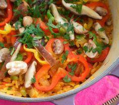 Cantinho Vegetariano: Paella de Cogumelos (vegana)