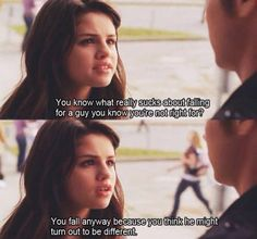 """""""You know what really stinks about falling for a guy you know you're not right for? You fall anyway because you think he might turn out to be different. Another cinderella story Another Cinderella Story, Cinderella Story Quotes, Cinderella Movie, Romantic Movie Quotes, Favorite Movie Quotes, Good Movie Quotes, Quotes From Movies, Famous Movie Quotes, Tv Show Quotes"""