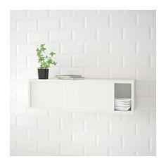 IKEA - ÖSTHAMRA, Armário parede c/2portas vidro, O armário de parede ÖSTHAMRA cabe perfeitamente entre os armários de parede da cozinha e a bancada, para que possa aproveitar esse espaço inutilizado para arrumação extra na sua cozinha.Pode usar o armário de parede de diferentes formas e em várias divisões: para especiarias ou chá na cozinha, copos e canecas perto da mesa de refeição ou filmes na sala.