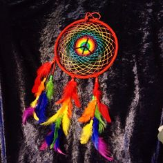 Rainbow 8 inch Dreamcatcher by PinkCoyoteDreams on Etsy, $25.00