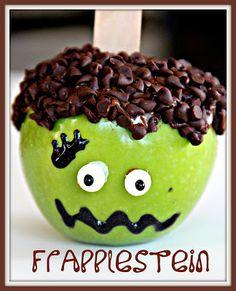 Frankenstein Caramel Apple