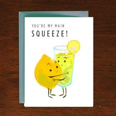 Main Squeeze Valentines Love Card by ecala on Etsy, $3.50