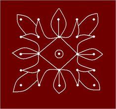 Rangoli Designs for Beginners Rangoli Designs Flower, Rangoli Designs With Dots, Rangoli Designs Images, Rangoli With Dots, Simple Rangoli, Indian Rangoli, Beginner Art, Printmaking, Applique Ideas