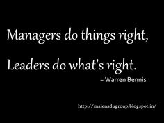 Manager and Leader #quotes