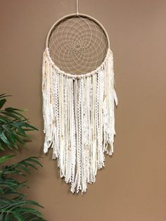 Dream Catcher Lace Dreamcatcher Large by TheGoodVibesTribe on Etsy