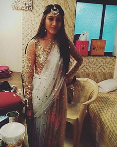 She is looking sooooo pretty @officialsurbhic  #anika #ishqbaaaz #ishqbaaz Pc-@ikhushboo_