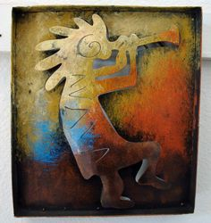 Mexican Painted Furniture | ... Kokopelli Wall Art | Hand painted Wall Art Mexican Rustic Spanish