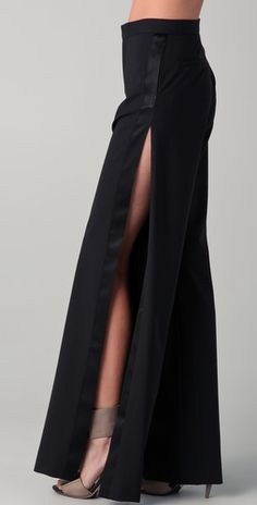 Haute Hippie - Tuxedo Pants with Slits
