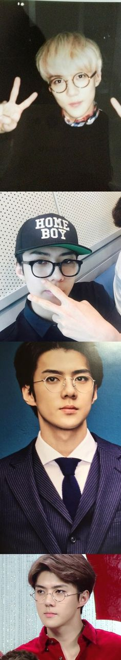 Omfg my life is complete. I have seen sehun with glasses ☆*:.。. o(≧▽≦)o .。.:*☆