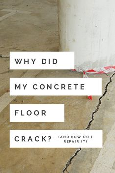 Why did my concrete floor develop cracks? How do I repair it? Discover why concrete floors develop cracks and how to repair it for residential garage and basement flooring. Concrete Floor Repair, Repair Cracked Concrete, Concrete Basement Floors, Basement Floor Plans, Flooded Basement, Garage Repair, Floor Design, Laminate Flooring, Cement