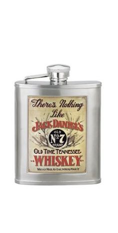 $24.99-$25.00 Jack Daniel's 3-Ounce Vintage Flask - This flask has a Jack Daniel's Old Time Tennessee Whiskey poster design on the front and a twist-off stainless steel captive top is permanently attached to the flask for loss prevention. http://www.amazon.com/dp/B001EWDRQM/?tag=pin2wine-20