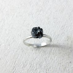 Negative/Positive mini ring, oxidised sterling silver www.facebook.com/fairinachengjewellery