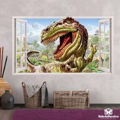 Vinilos adhesivos con formas de ventanas en Teleadhesivo Aquarium, Poster, Painting, Art, Special Effects, Dinosaurs, Vinyls, Windows, Shapes