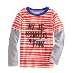 Striped Graphic Tee from FabKids