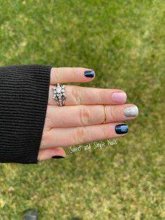 Blue in Peru, Himalayan Salt, Tinseltown, Color Street, Mixed Mani Get Nails, How To Do Nails, Hair And Nails, Nail Color Combos, Nail Polish Colors, Multicolored Nails, Nine Inch Nails, Himalayan Salt, Color Street Nails