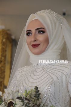 Tried this Pin? Muslimah Wedding Dress, Hijab Style Dress, Disney Wedding Dresses, Muslim Brides, Pakistani Wedding Dresses, Bridal Dresses, Bridesmaid Dresses, Hijab Chic, Muslim Girls