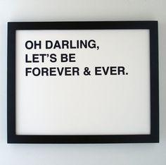 oh darling,