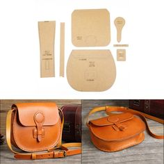 Leather Craft Clear Acrylic shoulder bag handbag Pattern Stencil Template DIY diy bag and purse Leather Diy Crafts, Leather Gifts, Leather Bags Handmade, Leather Projects, Leather Craft, Leather Purses, Leather Handbags, Leather Bag Pattern, Leather Bag Tutorial