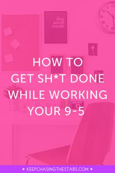 Here's a step-by-step guide on getting things done while working your full-time job! These tips will transform your life and dreams, Superstar.