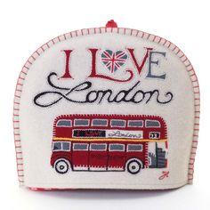 I Love London tea cozy