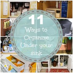 11 Ways to Organize Under Your Sink | OrganizingMadeFun.com