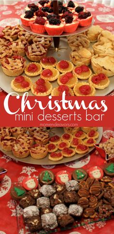 Delicious and fun! Serve up a mini Christmas desserts bar for parties or Christmas dinner! #christmas #desserts