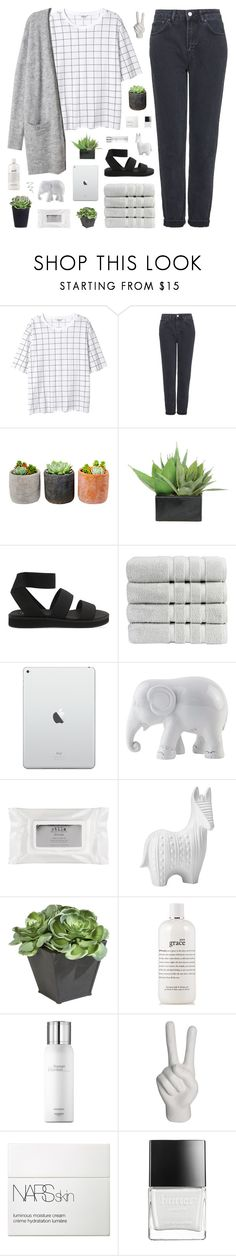 """""""~ 111815"""" by khieug ❤ liked on Polyvore featuring Monki, Topshop, Shop Succulents, Lux-Art Silks, Cheap Monday, Christy, The Elephant Family, Stila, Torre & Tagus and Ethan Allen"""