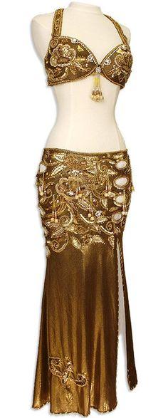 ... Fringe Egyptian Bra & Skirt