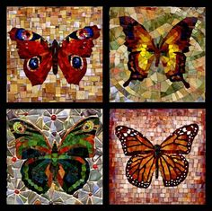 butterfly. mosaic