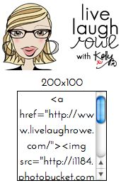 Making a Bloggy Grab Button {Tutorial} - live. laugh. rowe