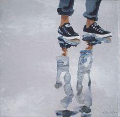 "Sandrine Gergaud ""beach without lace"" acrylic"
