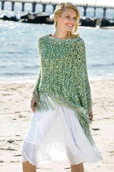 Poncho free pattern        N.Y.Yarns Free Knitting Patterns - N.Y. Yarns Free Crochet Patterns