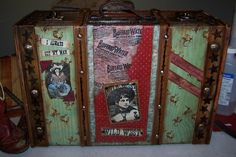 .: Vintage Cowgirl Train Case